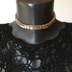 Vintage Vendome silver chain collar choker Coro